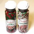 食用聖誕糖裝飾-大粒糖珠(紅色.綠色)